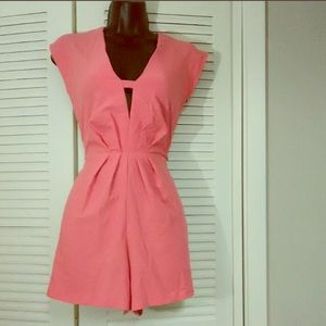 NWT Guess coral pink romper